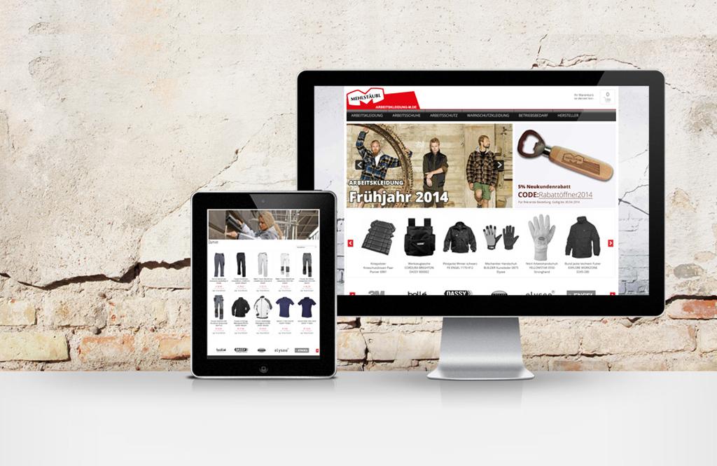 Referenz Arbeitskleidung-m.de xt:Commerce Template